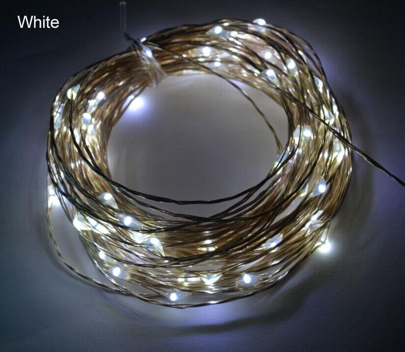 10m 100leds Koppar Wire LED StarryLights 12 V DC LED String Light, - Festlig belysning - Foto 4