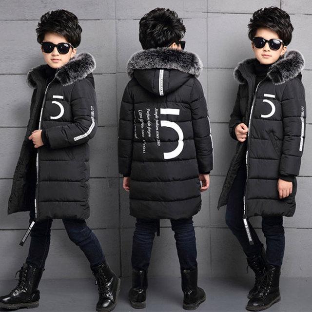 931f5e34a Frío invierno Niño chico ropa gruesa de algodón-Chaqueta acolchada abrigo  prendas de vestir exteriores