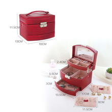 Automatic Leather Jewelry Box ( 3 colors)