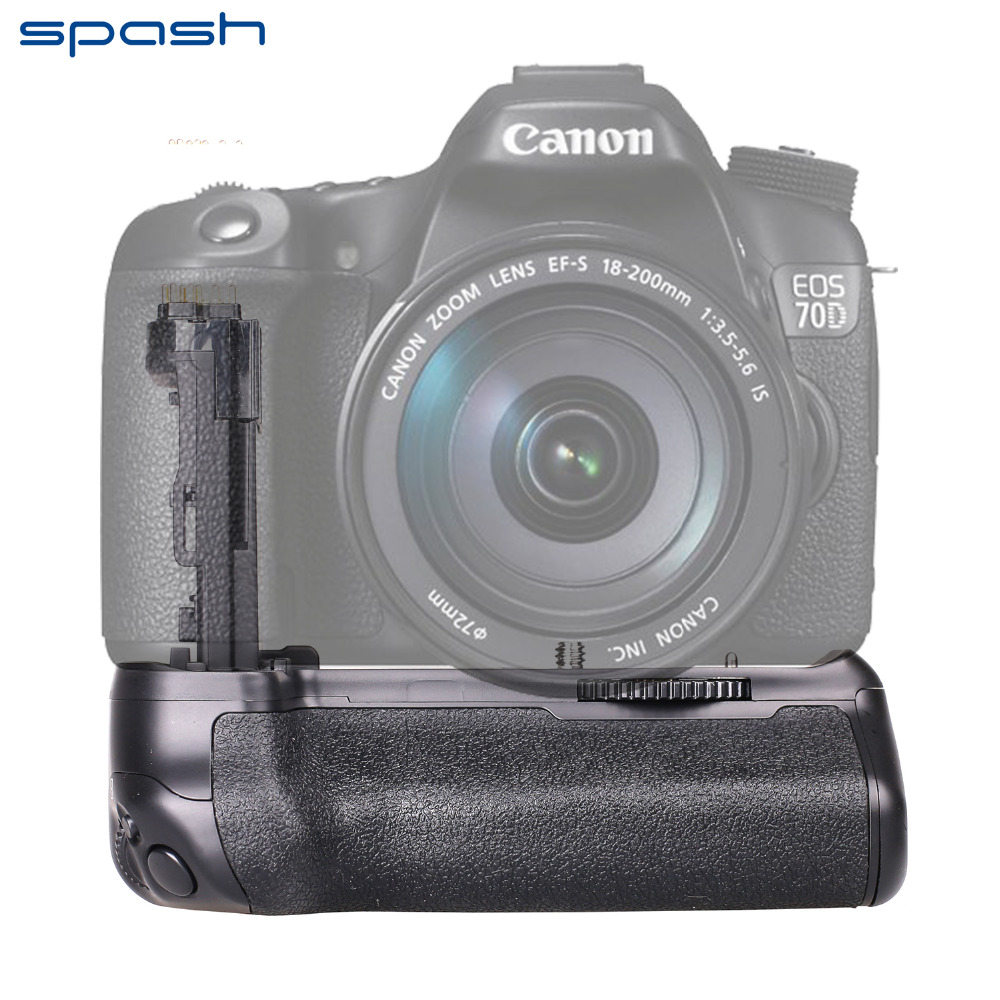 spash Multi power Vertical Battery Grip for Canon EOS 70D 80D Camera as BG E14 Professional
