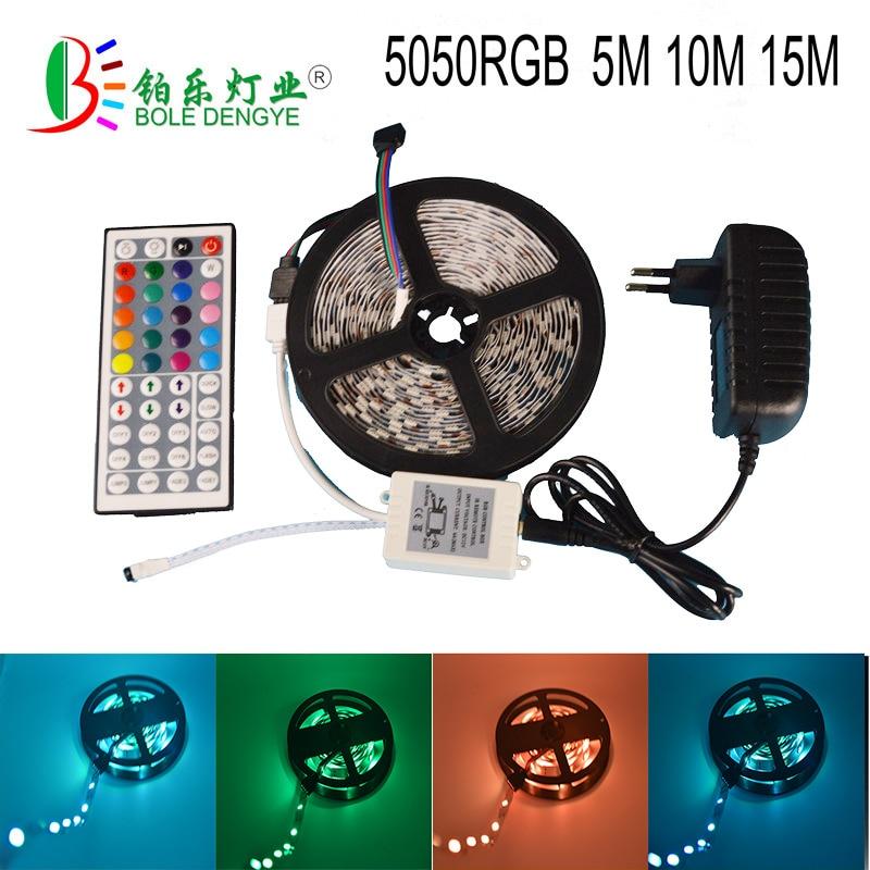 5 mt RGB 5050 Wasserdicht Led Streifen Licht 30 leds/m led-band mit 44 Key Fernbedienung UK UNS netzteil dc 12 v Full kit