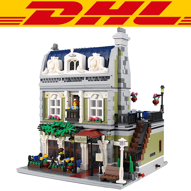 2017 New 2418Pcs City Series Parisian Restaurant Model Building Kits Blocks Bricks Toys For Children Gift Compatible With 10243 building blocks super heroes back to the future doc brown and marty mcfly with skateboard wolverine toys for children gift kf197