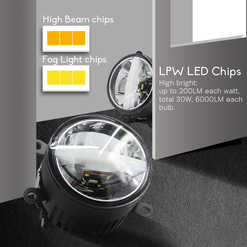 Nebel Abdeckung LED Tagfahrlicht Auto LED DRL Fahren für Suzuki Swift 2013 up - 3