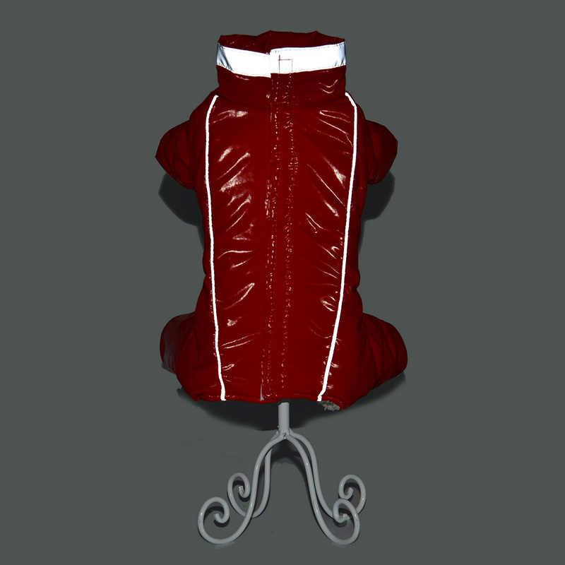 Зимняя одежда для домашних животных для собак Светоотражающая Водонепроницаемая курта для собак теплые флисовые комбинезоны для щенка чихуахуа французская одежда для бульдога