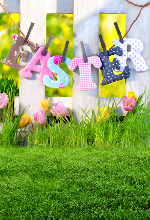 8 ft Vinyl cloth spring Easter flower field photography backdrops for kids party photo studio portrait backgrounds props F-069 custom10ftx20ft vinyl studio photography digital props backgrounds e 3742 maple leaf backdrops cloth