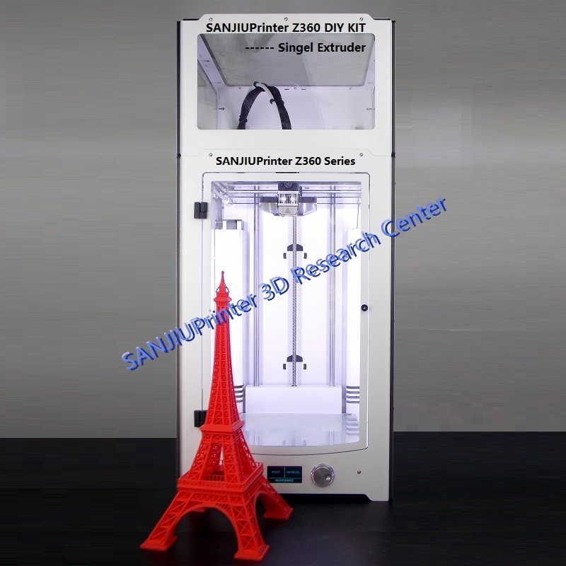 SANJIUPrinter Z360 3D Printer More Higher Than Ultimaker 2+Extended with Door and Top Cover 3D Printer DIY KIT Inculde All Parts
