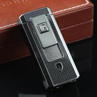 COHIBA Gadgets Cigarette Lighter Built In Cigar Punch Double Torch Windproof Refillable Butane Flame Cigar Lighter