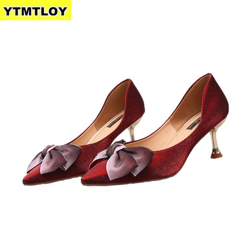 New Arrivals Office Women Shoes Candy Color High Heels Dress Pumps Pointed Toe Boat Shoe  Classic  Zapatos Wedding  Sexy Shoes