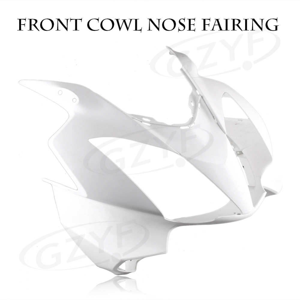 Unpainted Upper Front Cover Cowl Nose Fairing for Honda VFR800 2002 2012 Injection Mold ABS Plastic