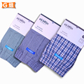 3 unids/lote hombres de marca de los calzoncillos de la ropa interior tejida 100% algodón suelta de muy buena calidad hace aun no contagia cuando vistiendo