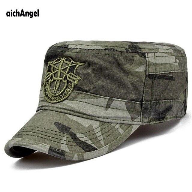 Aichangei Venta caliente soldado combat sombrero gorra militar unisex de  moda del camuflaje del ejército Ajustar 0c27635de64