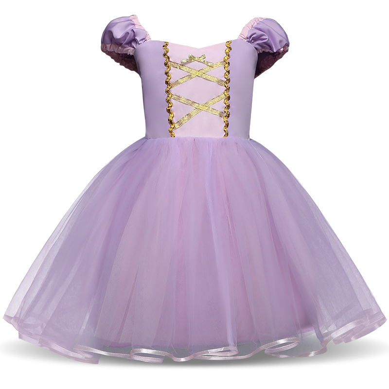 Girls Sofia Princess Summer Dresses Kids Cosplay Costume Clothing Children Rapunzel Sofia Party Role-play Purple Dress for Girl 2017 girl princess dresses children clothing high quality sofia princess cosplay costume kid s party dress baby girls clothes