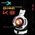 XIBERIA USB7.1 K3 20-20000Hz de alta Qualidade Headbands Com Microfones de Computador PC Gamers Gaming Fones De Ouvido Frete Grátis