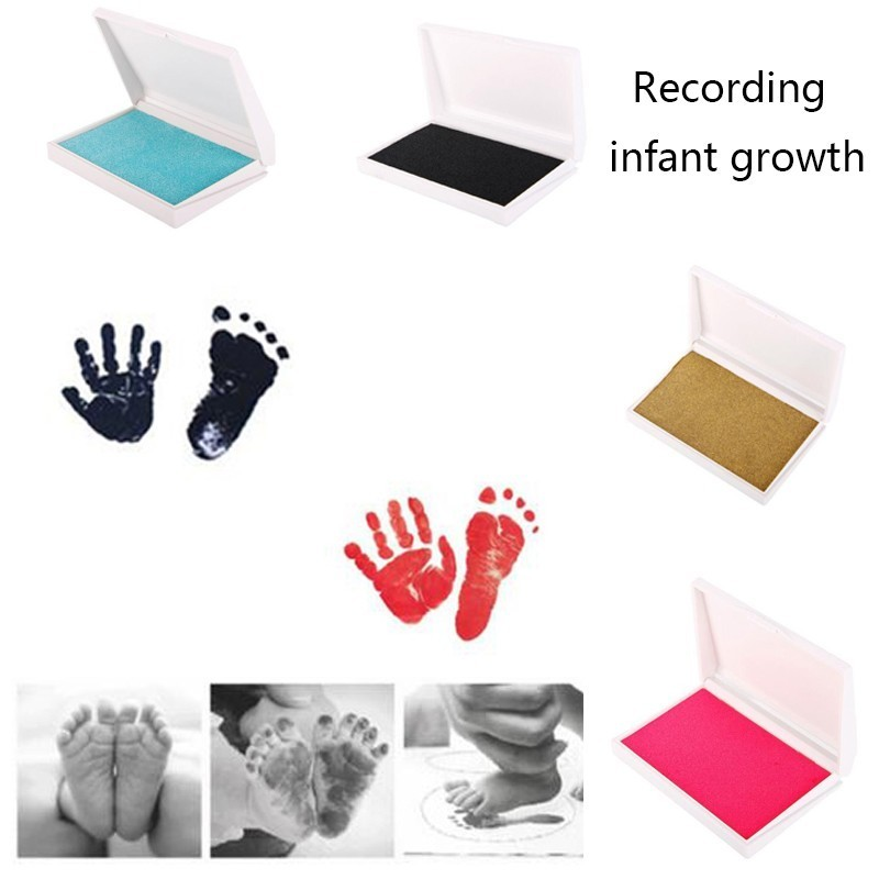 Baby Handprint Footprint Kit Paw Print Pad Frame Touch Ink Pad Baby Items Gifts Newborn Souvenirs Environment-friendly Ink Pad