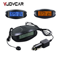 6ecc22b684ca 3 In 1 Car Clock Thermometer Voltage Monitor 12 24V Car Charge LED Light  Alarm Styling