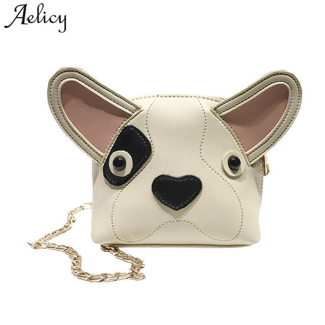 Aelicy Cute Dog Shape Children Shoulder Bag Fashion Girl Shoulder Messenger  Bags Baby PU Leather Ladies a5edf75a654dd