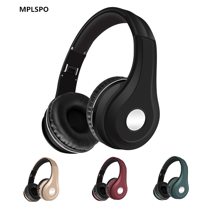 MPLSBO MS-K5 Active Noise Cancelling Bluetooth Headphones FM MP3 HIFI Wireless Over Ear Stereo Headset with microphone for phone ks 508 mp3 player stereo headset headphones w tf card slot fm black