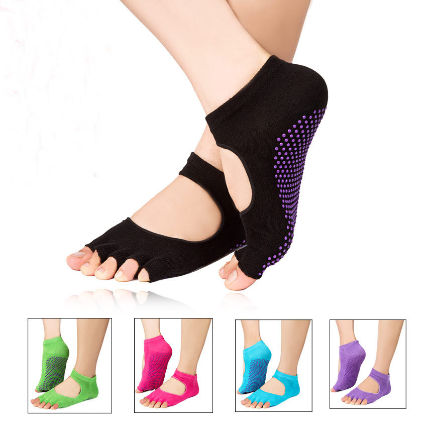1 Pair Pedicure Tools Silicone Socks Anti-slip Detox Massage Foot Care Tool Yoga Sport Health Sock Orthopedic Shoes For Women