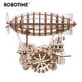 Robotime <font><b>DIY</b></font> подвижный воздушный корабль привод по заводу 3D деревянная модель строительные наборы игрушки хобби подарок для детей и взрослых LK702