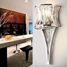 Современная Художественная светодиодная Хрустальная декоративная железная настенная лампа, настенный светильник, Домашний Светильник, настенные бра для спальни, ванной комнаты, настенный светильник