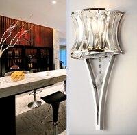 Современный художествсветодио дный светодиодный хрустальный декор железный Настенный светильник Внутреннее освещение настенные бра для