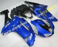 Hot Sales,Blue black fairing For Kawasaki ZX 6R 07 08 ZX 6R Cowling 636 Ninja ZX636 ZX6R 2007 2008 Sportbike (Injection molding)