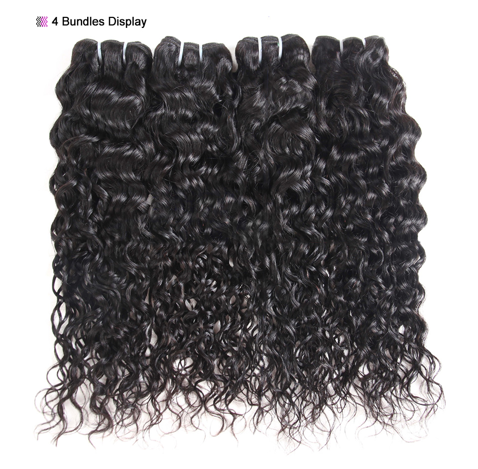 Allove Water Wave Hair Bundles With Closure (11)