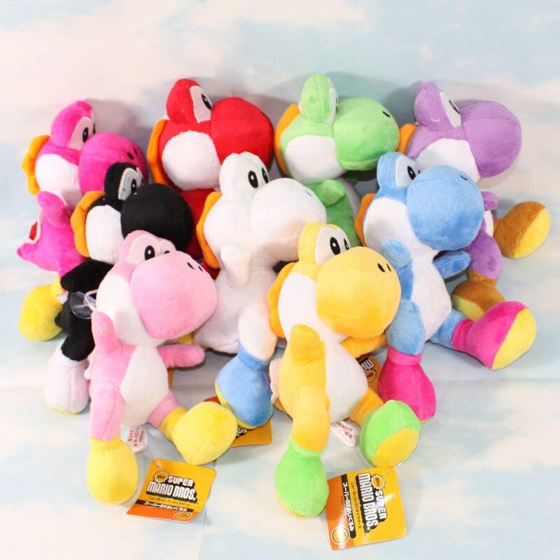 Super Mario Bros Run Yoshi Plush Stuffed Dolls Mario Plush Toys 20CM Plush Toys Figures toys