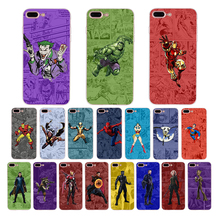 MARVEL Comic background Superhero soft case for iphone cover x 6s 6 8 7 plus xs max xr 5 5s colorful phone Iron Spider Super man