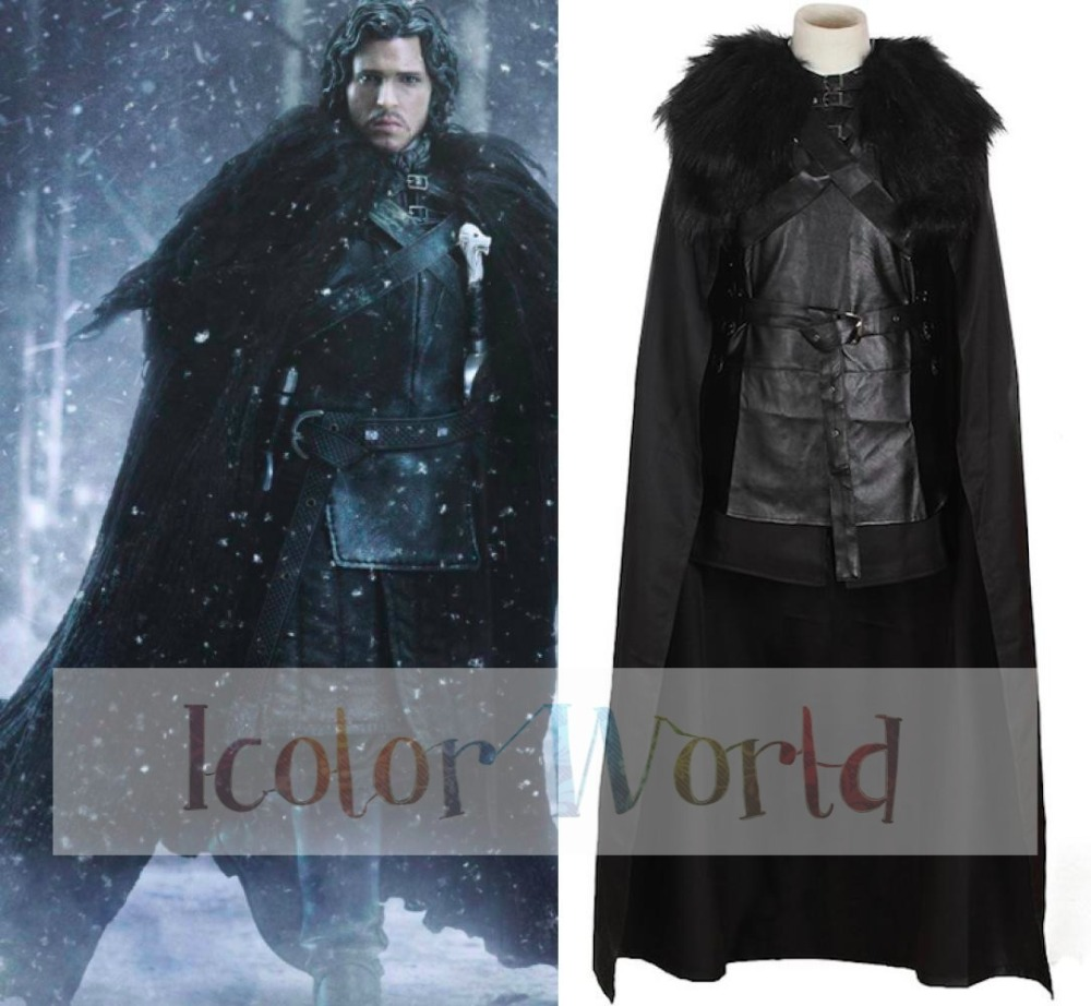 Hot Game Of Thrones Jon Snow Cosplay Cotume