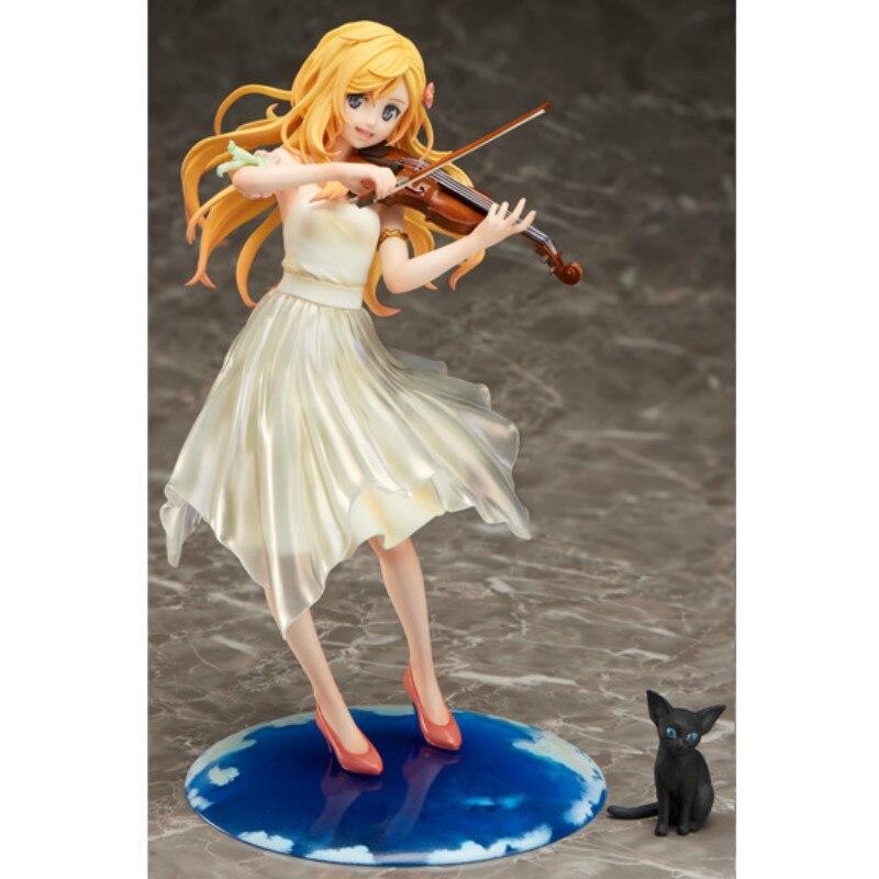 Joli violon votre mensonge en avril Miyazono Kaori japonais Anime figurines Action jouet Kakarotto Pvc modèle Collection pour le meilleur cadeau