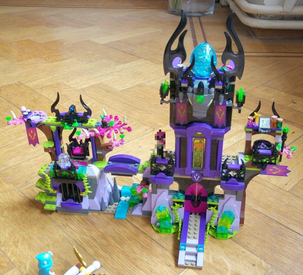 New Elves fairy Magic Shadow Castle fit elves fairy figure model building Block Bricks Toys girls