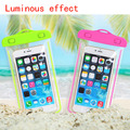 the newest 6 inch Luminous outdoor waterproof phone bags PVC material fashion touch mobile accessories for iphone 5s 6s 6plus