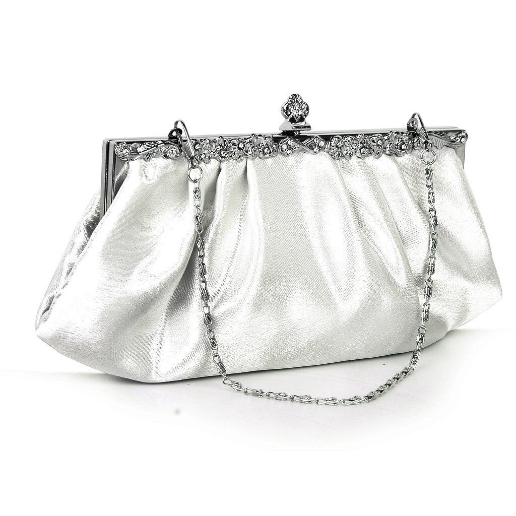 Hot Fashion Ivory Party Rhinestones Decoration Clutch Bag Banquet Handbag Dress Wedding Bag With ...
