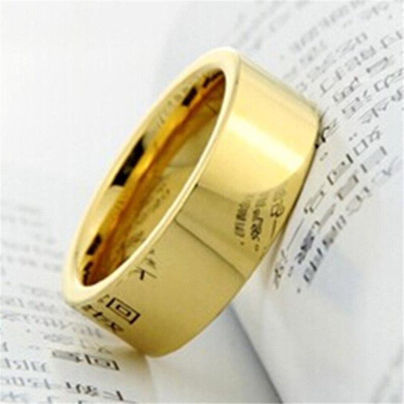 1 Lot = 5 Stücke Hochzeits- & Verlobungs-schmuck SchöN Modyle Angepasst Gold-farbe 4mm/6mm/8 Mmtungsten Carbide Versprechen Hochzeit Bands Ring