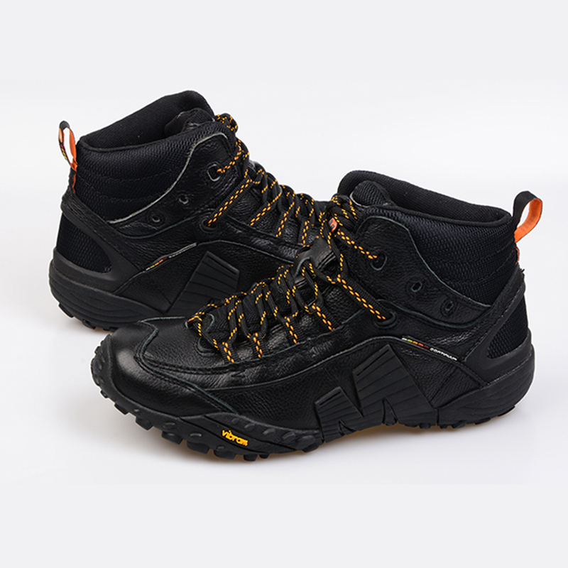 5eb4295c9a US $82.51 5% OFF|High Quality Merrell Professional Men Hiking Boots For  Waterproof Climbing Mountaineering All Black Outdoor Sport Sneakers-in  Hiking ...