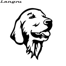 Langru Golden Retriever Dog Car Bumper Stickers Cute Pet Dog Decals Car Styling Decoration Accessories Jdm(China)