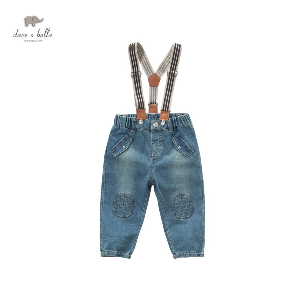DB5170 dave bella spring babygirls boys pants babi trousers boys  jeans denim blue pants sachin babi повседневные брюки