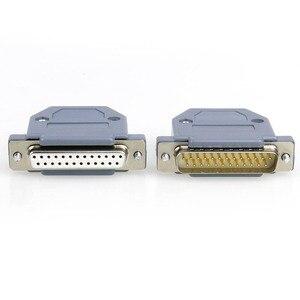 10 шт./лот, металлический разъем RS232 DB25 с параллельным портом, разъем, 9 Pin COM адаптер для мужчин и женщин