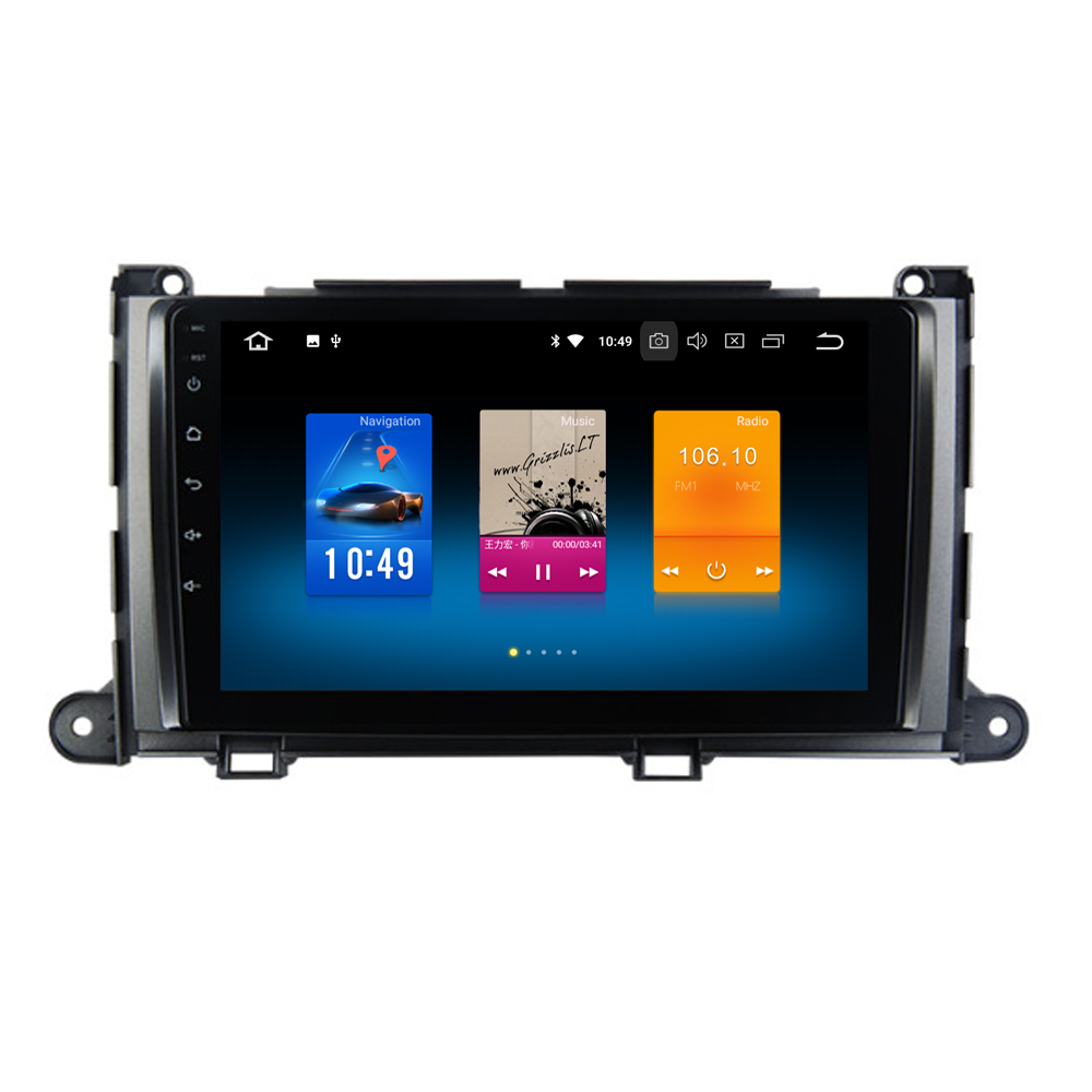RoverOne Android 8.0 Car Radio Multimedia Player For Toyota Sienna XL30 2010-2014 TouchScreen Autoradio Bluetooth GPS NavigationRoverOne Android 8.0 Car Radio Multimedia Player For Toyota Sienna XL30 2010-2014 TouchScreen Autoradio Bluetooth GPS Navigation