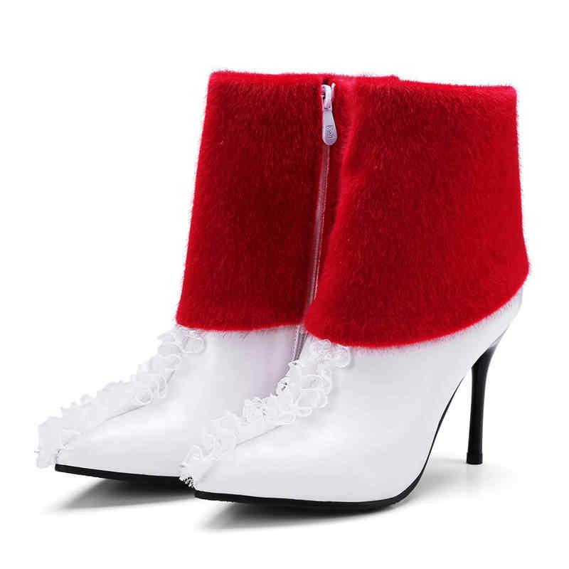 Morazora 2018 Gaya Baru Pu Tipis Sepatu Hak Tinggi Wanita Menunjuk Toe Musim Gugur Musim Dingin Sepatu Bot untuk Wanita Fashion Pernikahan sepatu