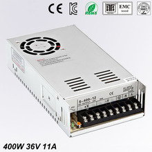 цена на Single Output dc 36V 11A 400W Switching power supply For LED Light Strip 110V 240V AC to dc36V SMPS With CNC Electrical Equipmen