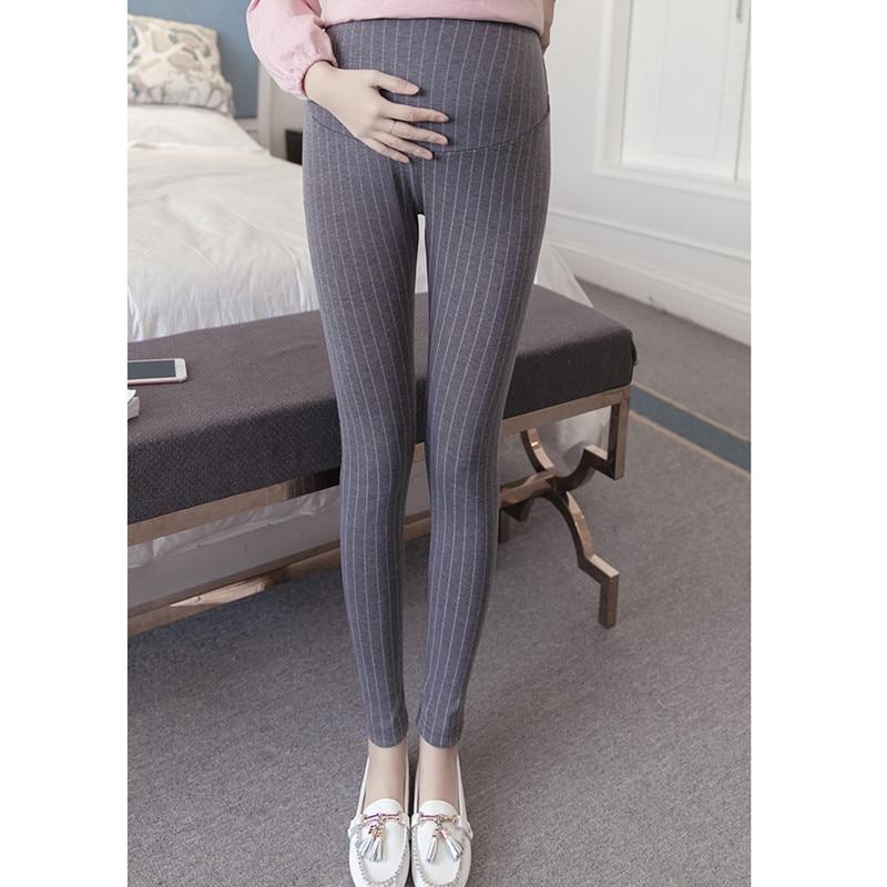 Maternity Women Leggings  Autumn Stripped Pregnant Belly Pants Maternity Nursing  Trousers For Pregnancy Women Clothing E0047