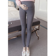 Maternity Women Leggings  Autumn Stripped Pregnant Belly Pants Nursing Trousers For Pregnancy Clothing E0047