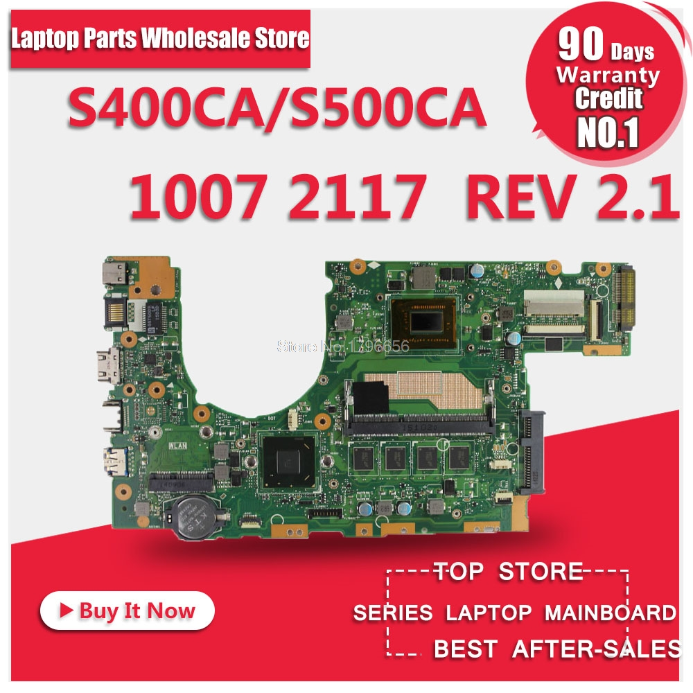 for asus S400 s400c s500c S400CA S500CA MAIN BOARD original motherboard with 2117 1007 CPU 100% Test ok corner sofa