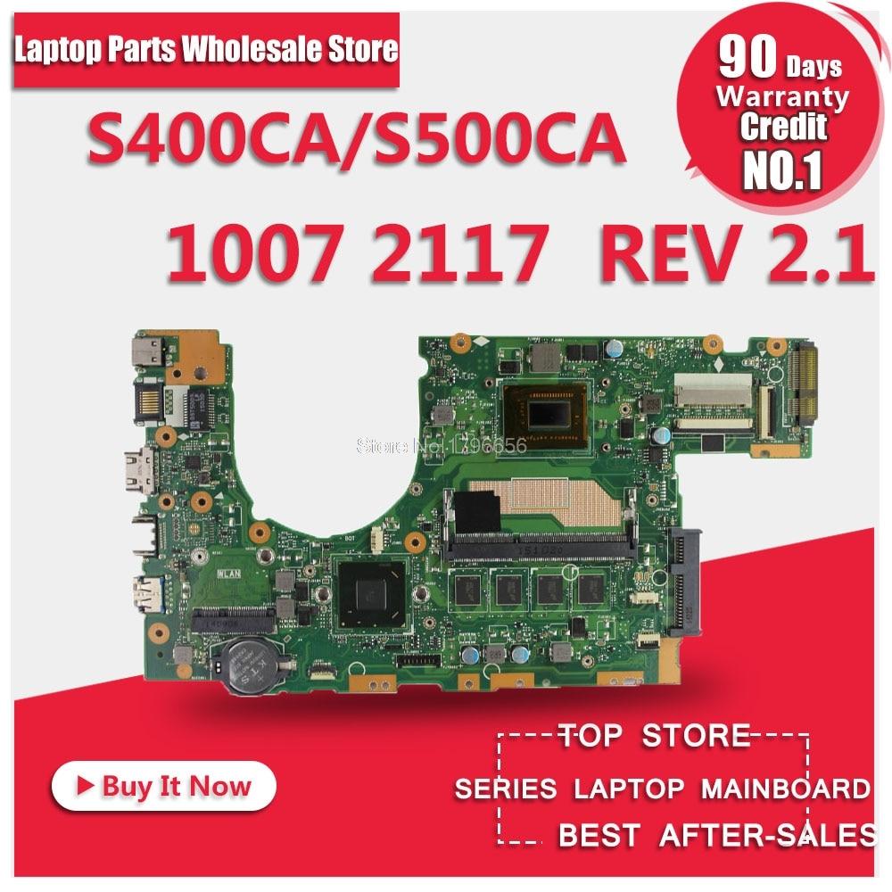 for asus S400 s400c s500c S400CA S500CA MAIN BOARD original motherboard with 2117 1007 CPU 100% Test ok rcf du 50en