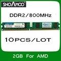 Оптовая продажа 10 ШТ./ЛОТ Бренд РАМС DDR2 2 ГБ 800 МГц PC2-6400 Совместимость с 667 МГц 533 МГц DIMM Памяти Для настольный ПК Для AMD
