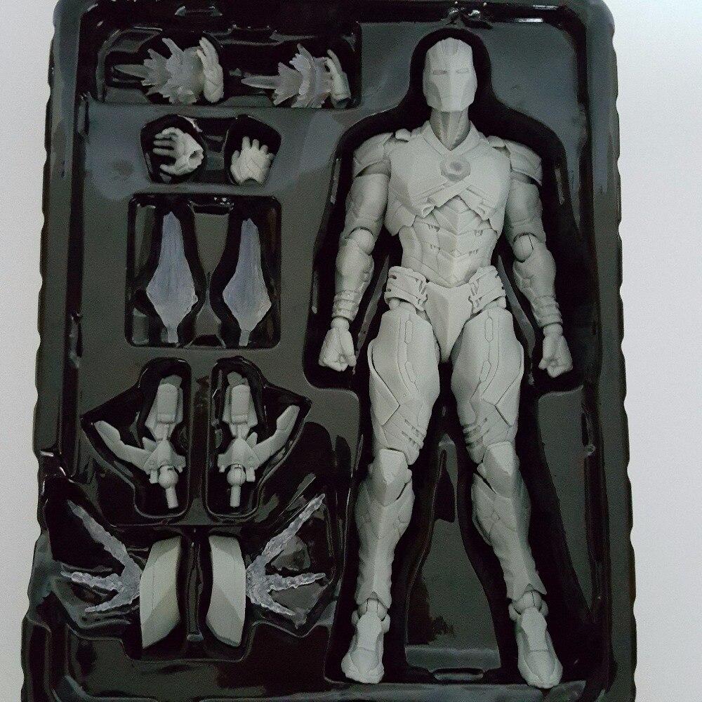 Iron Man Action Figure Play Arts Kai Plain Colour Avengers Ironman PVC Toy 25cm Anime Movie Iron Man Playarts Kai (only one)