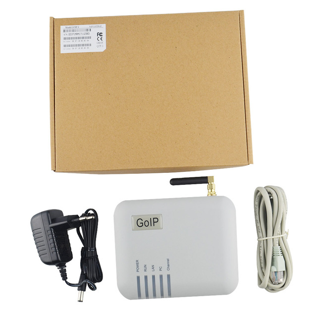 Конвертер gsm SIP IP Phone адаптер GOIP-1 светодиоды обеспечивают 1 сим карты порты смена imei поддержка для ip pbx FXS шлюз