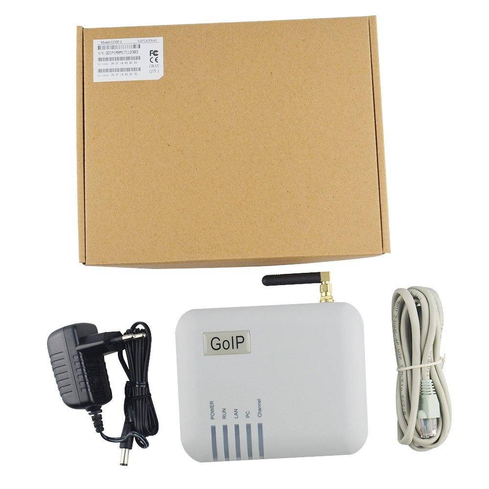 Convertisseur GSM adaptateur téléphone IP SIP GOIP-1 led fournir 1 port de carte Sim prise en charge du changement IMEI passerelle IP PBX FXS